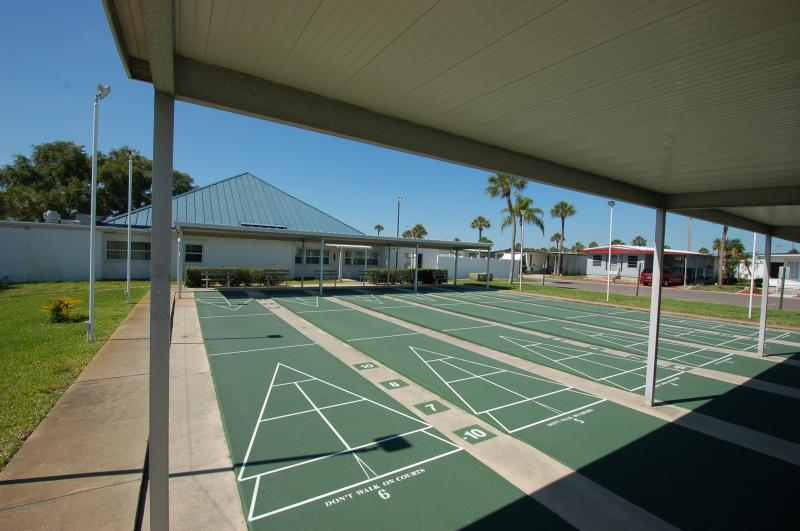 Shuffleboard Court retirement living in florida
